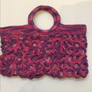 Handbags - Crochet style pink bag handmade design cool design
